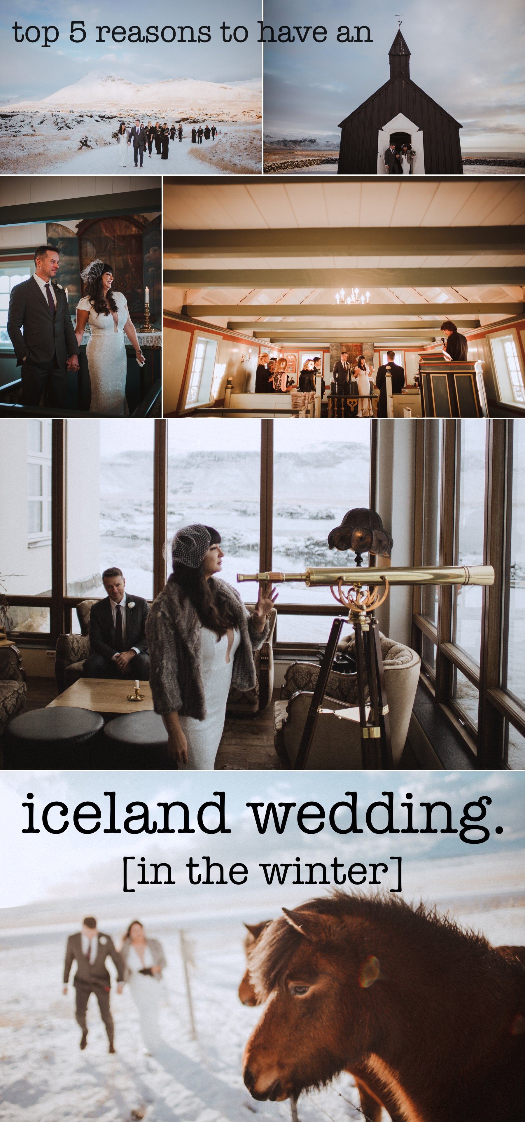 reasons to consider having a destination wedding in iceland in the winter