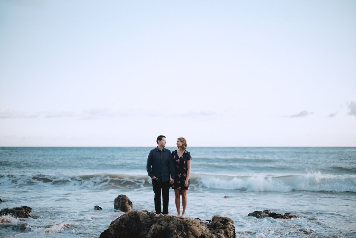 malibu wedding photographer, el matador beach sunset engagement session
