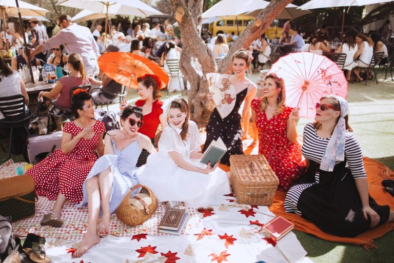 teri b photography malibu wines california bachelorette pinup party picnic