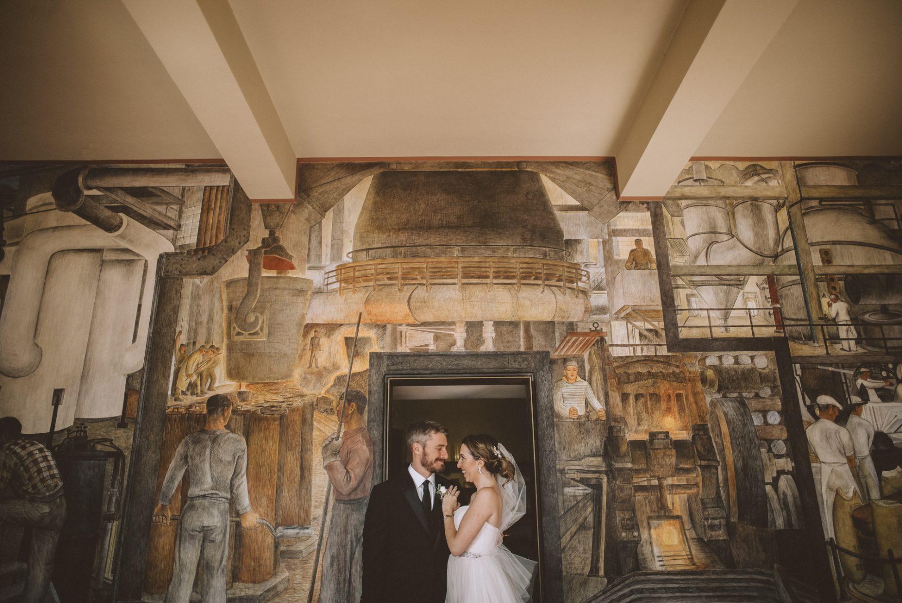 coit tower san francisco wedding photos