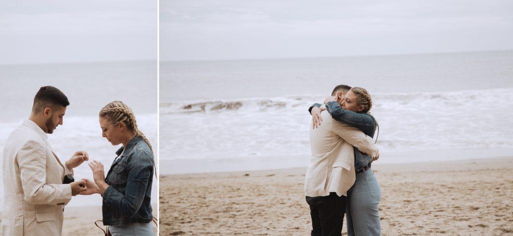 cute proposal idea roses malibu beach oceanside los angeles southern california photographer el matador beach wedding photography