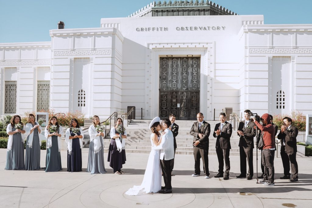 griffith observatory wedding ceremony unique historical teri b photography Vietnamese