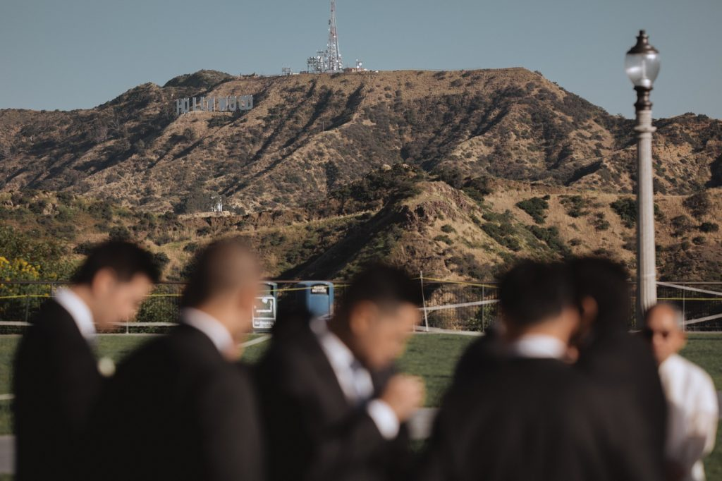 hollywood sign wedding ceremony