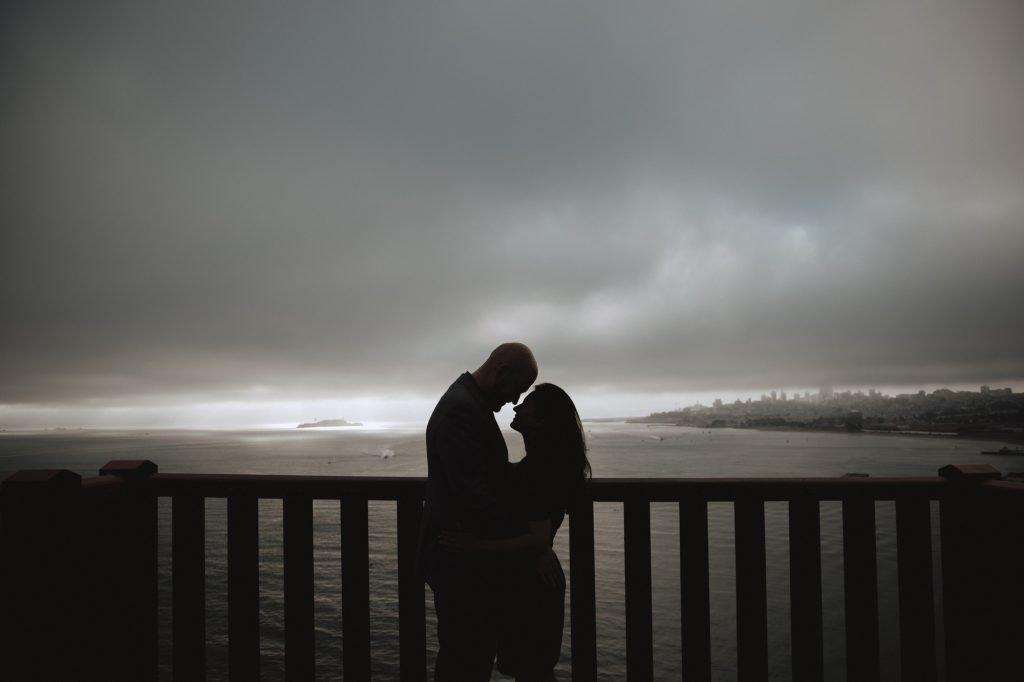san Francisco engagement session golden gate bridge sunrise baker beach lovers lane presidio sf wedding photo ideas teri b