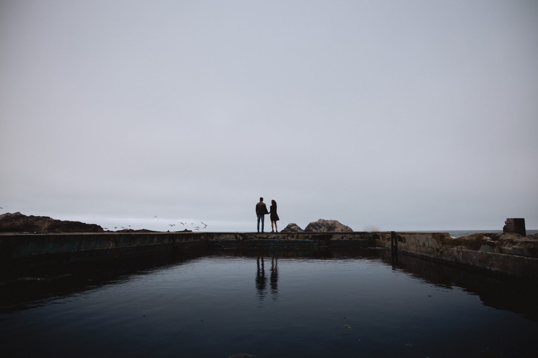 sutro baths sunrise pre-wedding indian Hindi photos moody bay area san francisco photographer teri b