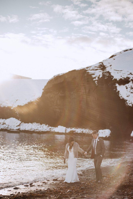 dreamy iceland winter wedding photos
