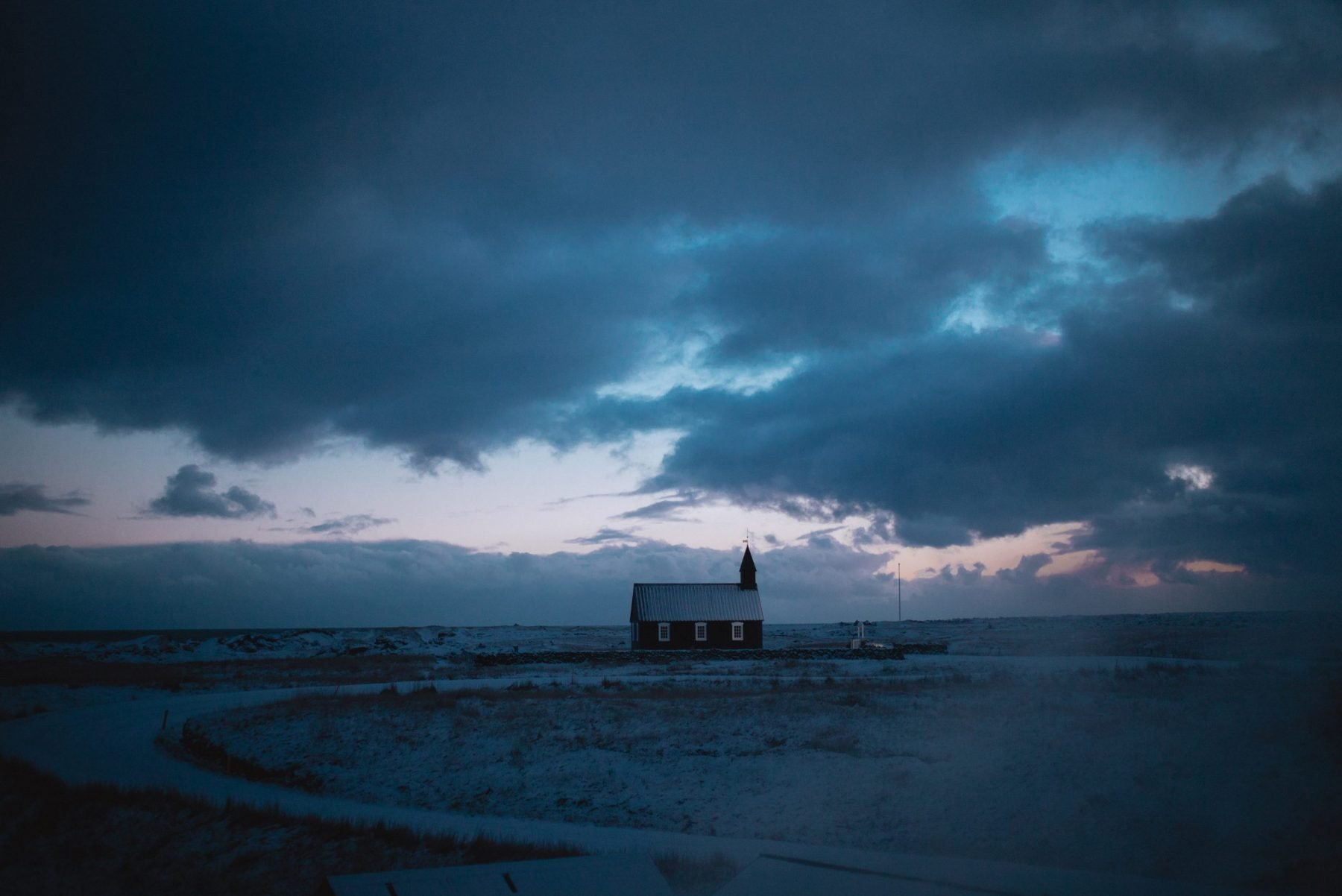 iceland hotel budir church black iceland