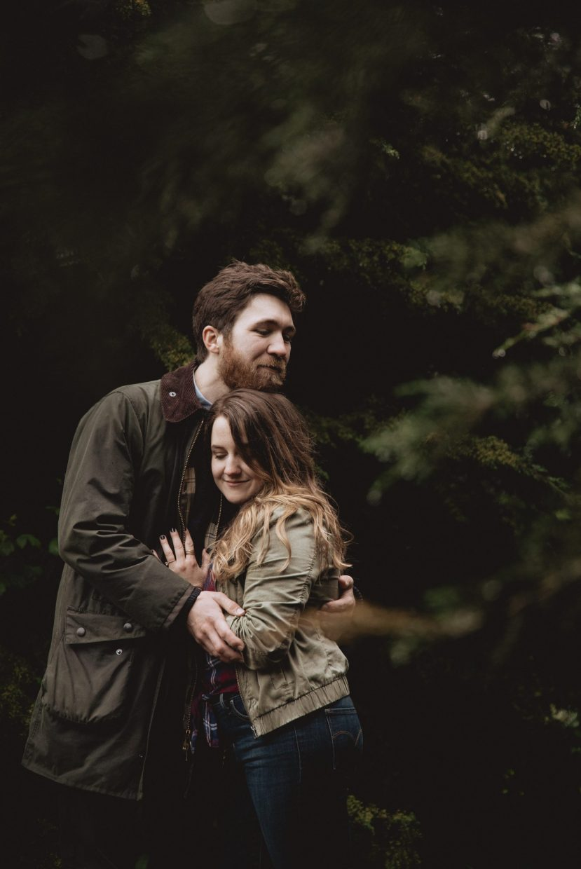 san Francisco presidio park cute engagement photos mood wedding photographer