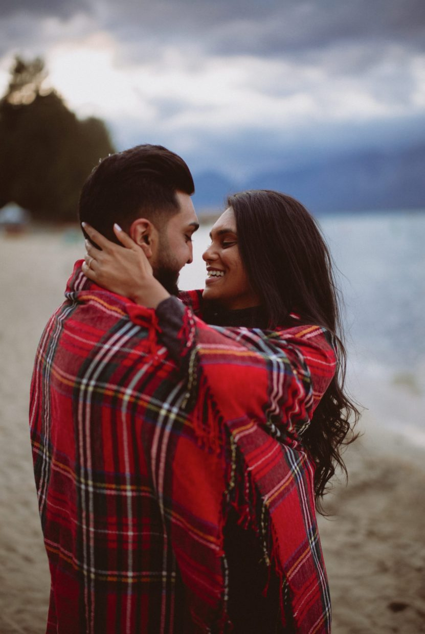 beautiful south lake tahoe engagement photos