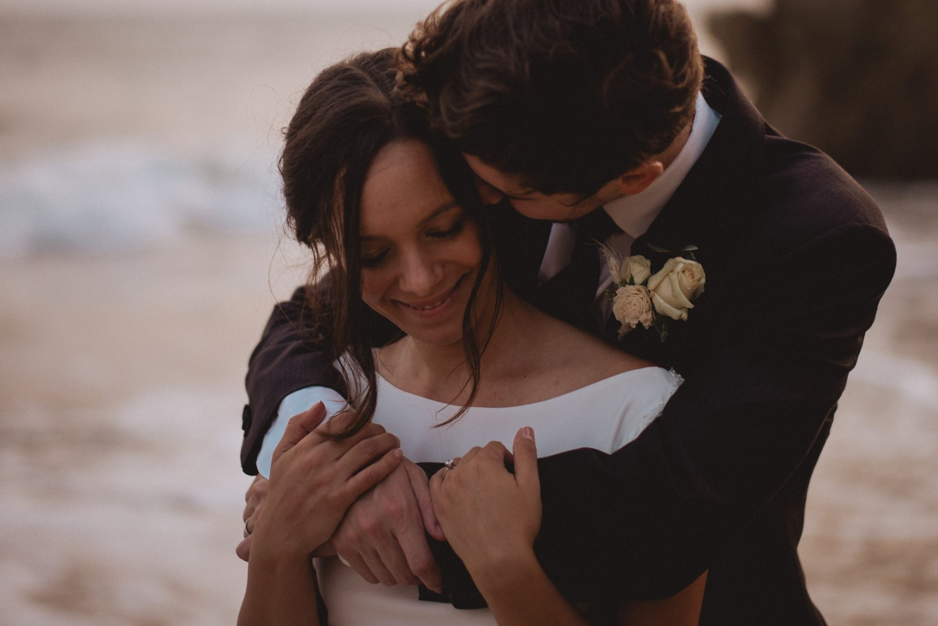 el matador state beach wedding elopement photos