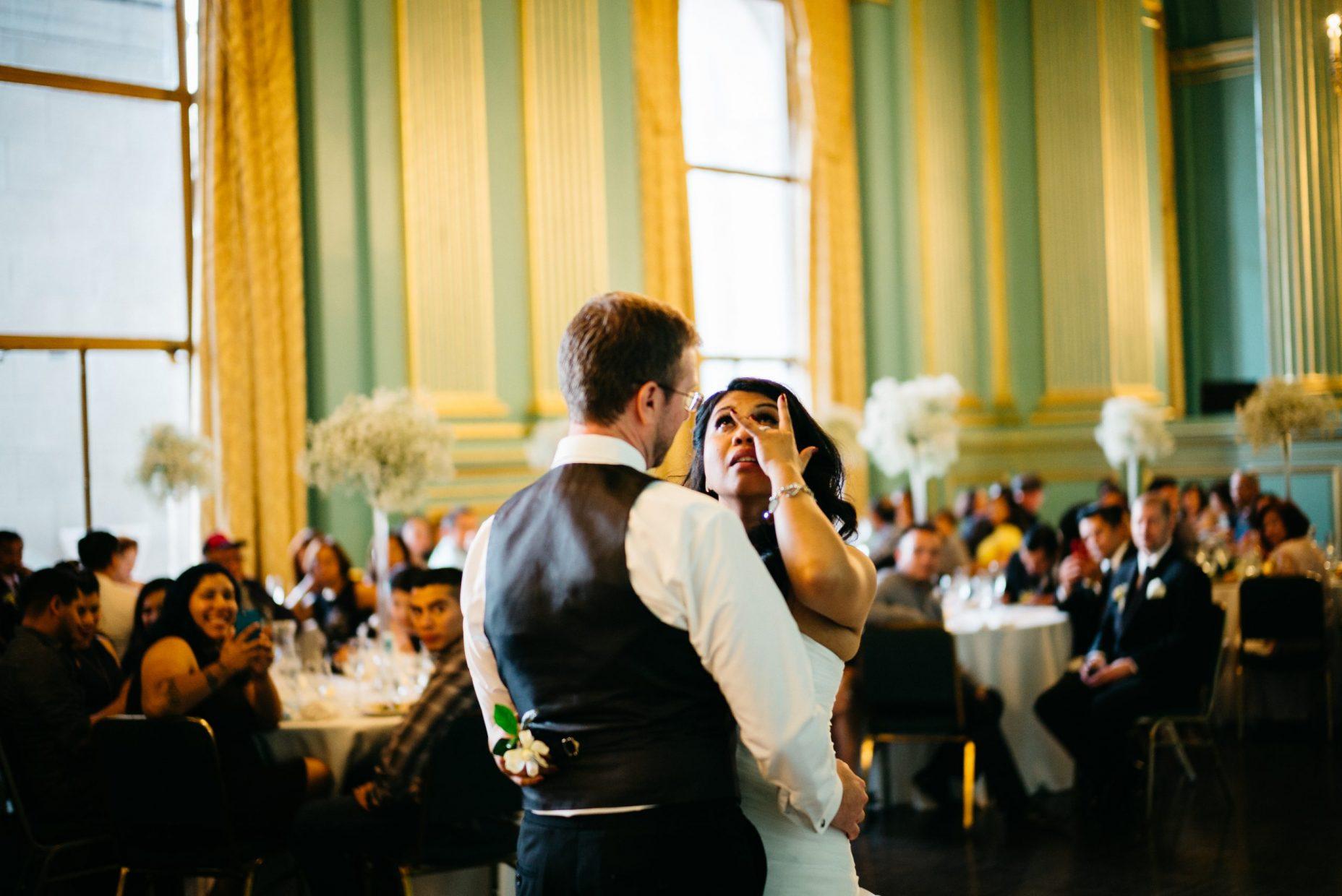 green room wedding photos San Francisco indoor venue