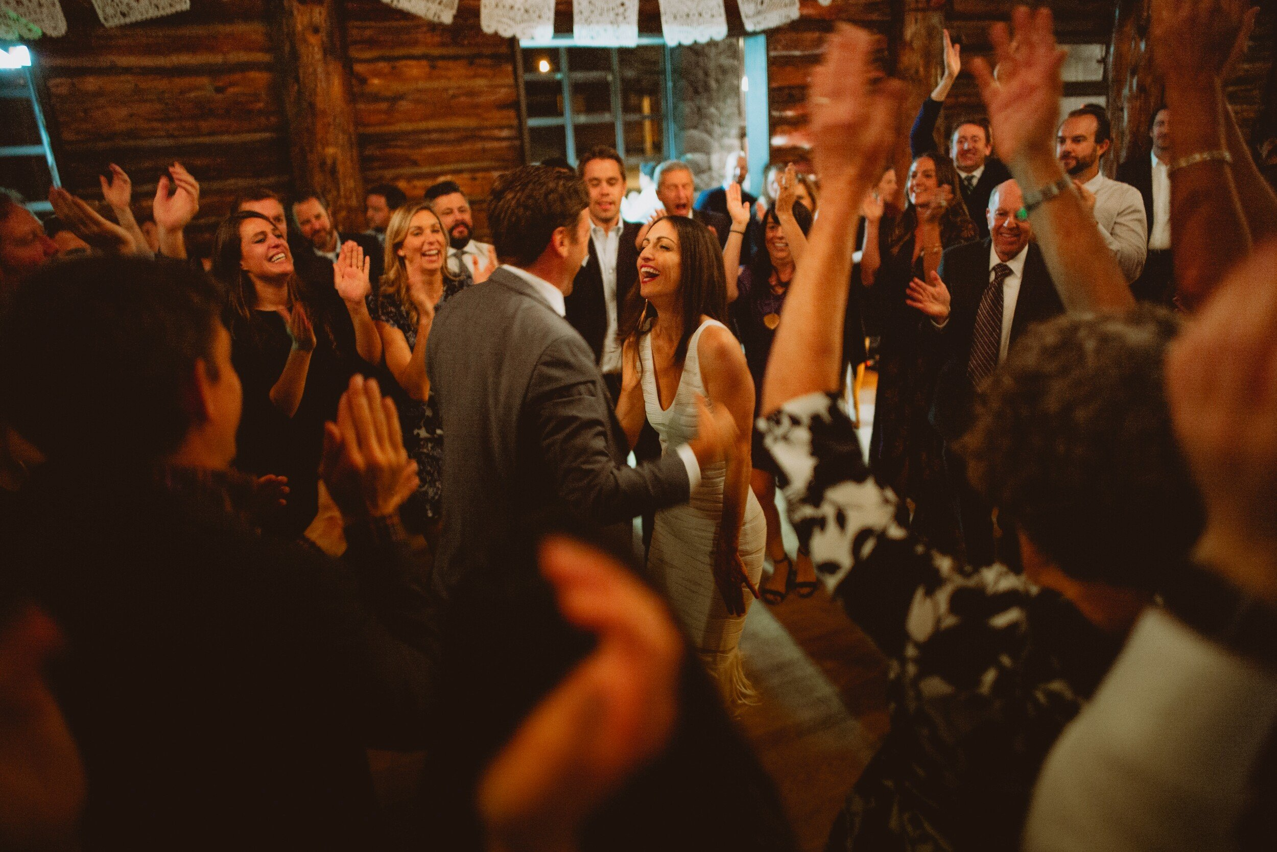 log cabin presidio wedding reception